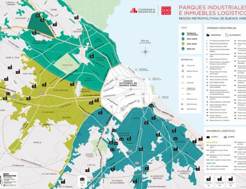 Mapa de parques industriales e inmuebles logísticos